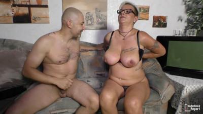Judith - Mature blonde granny starring in German porn (2016)