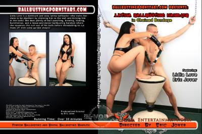 Latina Ballbusting Handjob In Chained Bondage