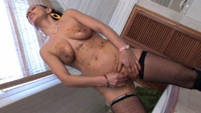 A Hot Brunette Masturbate In The Shit Filesmonster Scat