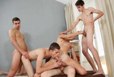 Cock Siders In Gangbang