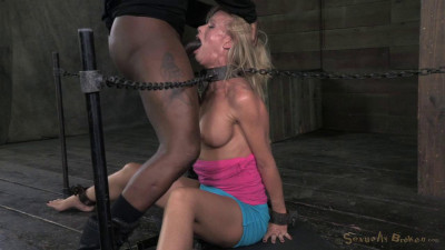 Stunning Simone Sonay Chained Down, Hooded, Multiple Orgasms While Sucking, Brutal Deepthroat