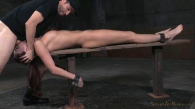 Bondage beauty Bianca Breeze shackled down throatboarded epic brutal deepthroat! (2015)