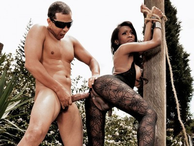 Rough Shemale Sex Action Outdoors