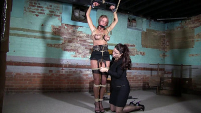 Super torture and bondage for blonde girl