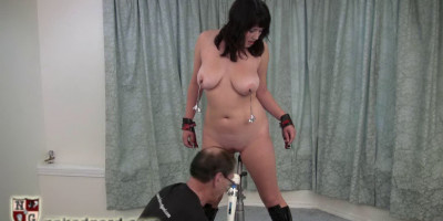 Is learning new ways to try her limits. She shows her submissive side by being tit tied