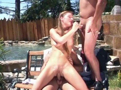Small-titted babe banging