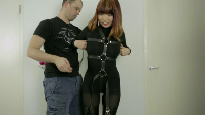 Restricted Senses – Laced In Armbinder & Hood On Screen
