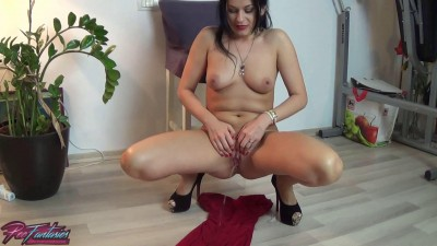 Wild Eva — Wife punished to pee her party dress