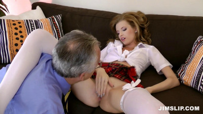 Skinny Schoolgirl Takes Older Guy's Cock (1080)