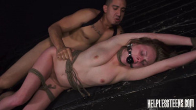 Lizie Bell is Lost & Must Endure Outdor Rough Sex, Rope Bondage & Deepthroat BJ for a Ride