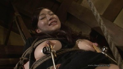 rope torture whip slave erected nipples