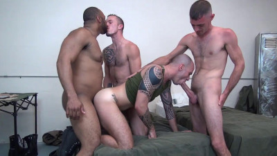Cam Christou Takes Three Big Cocks Brett Bradley, Ray Diesel, Jimmie Slater, Cam Christou (2016)