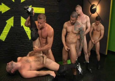Monster-cocks in brutal orgy