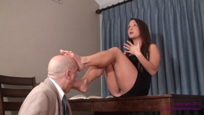 Uses Her Feet to get what She Wants