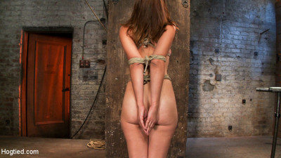 Part 2-4 Of The August Hogtied Live Show – Audrey Is Tightly Bound