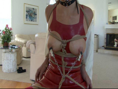 Lovely Latex Lady Yvette Costeau Leash Led & Tied Up Tightly (2014)