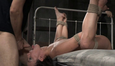 Tightly Tied Brunette Jennifer White