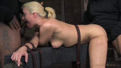 Anikka Albrite Deep Throats 10 Inch BBC, Tag Teamed By 2 Cocks, Cums Helplessly!