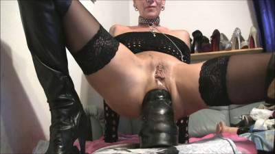 The old whore having fun on the full