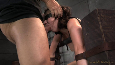 Cute Little Amy Faye Belted Down Onto Sybian And Does Epic Deepthroat Until She Is A Drooling Mess