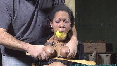 Sassy is Captured, Manhandled, Belt Whipped, Clamped, Tounge Tied, Nose Hooked, etc - Part 2