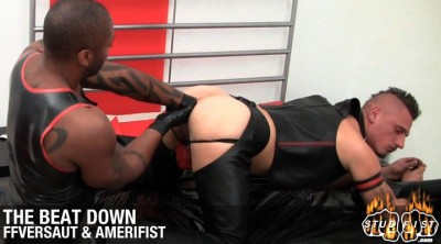 The beatdown ; gay anal folded plugging...