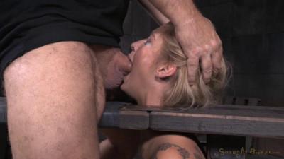 Kleio Valentien - Shackled sybian slut throat trained on hard cock (2015)