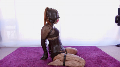 Black Fishnet Fetish Doll