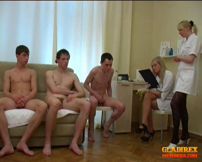 VIP Collection  Crazy Female Doctors Medical , Examinations Russian Guys . – 31 Clips.