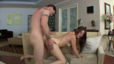Lovely brunette fucked and facialized