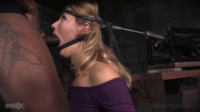 SexuallyBroken Unstoppable Mona Wales get the Bars experience on the blowjob machine