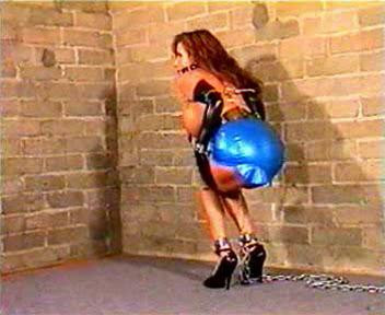 Shes been gagged and bound here