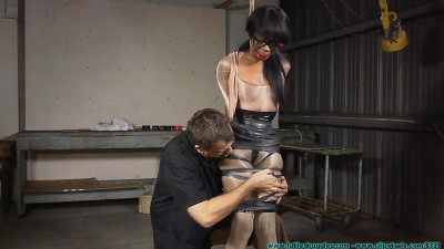 Severe Tape Bondage for Rubee 1 part - BDSM, Humiliation, Torture HD 720p