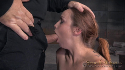 Big breasted Bella Rossi is bound and brutal shackled rough sex deepthroat while vibrated!