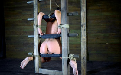 Amber Rayne - Ass fucked to orgasm, throat fucked into subspace, brutal suspended ladder bondage