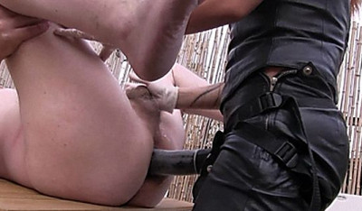 In my Back Yard with a Huge Black Strap-On