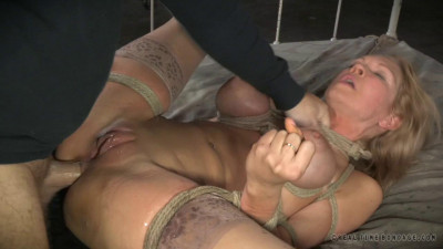 Busty Blonde Rain DeGrey Bound And Brutally Assfucked By 10 Inches Of BBC, Squirting Orgasms
