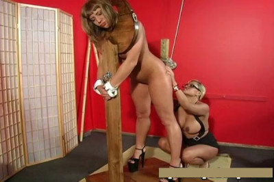 Tied Up Sub Gets her Holes Explored