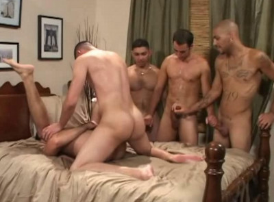 Tight Asses In Gangbang - three, oral, ass, scene