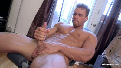 Muscular male showing dick!
