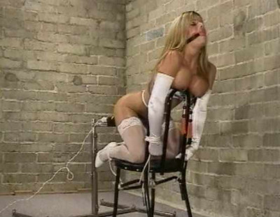 Sexy Blond Babe In Bondage