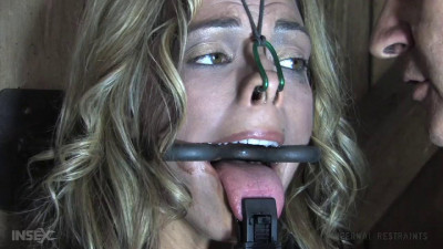 Hard bondage, torture, suspension and spanking for very hot blonde