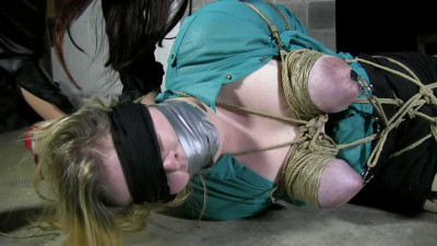 Extreme Bondage And Torture For Horny Girl On The Floor