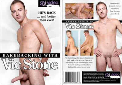 Barebacking with Vic Stone - hung swarthy men gay hardcore ripped gay dick.