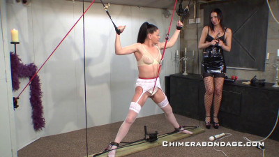 Sarah Ties Her Ankles To Ropes… (2015)