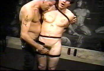 Vic struggles to serve as Cash whips, paddles, and whips again showing , movies of twink...
