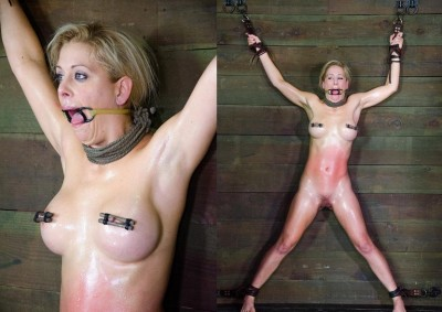 Stunning blonde in BDSM