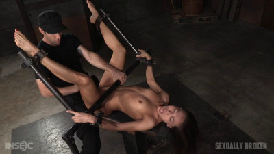 Legendary Kalina Ryu bound used hard in classic fuck me position facefucking vibrators! (2016)