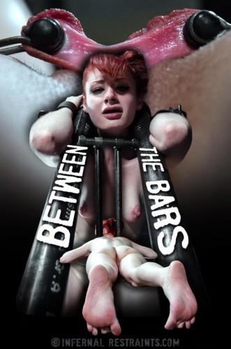 InfernalRestraints-Between the Bars(2015,Violet Monroe,Metal Bondage,mp4 720p, Weighted Nipple Clamps)