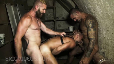 EricVideos - David Andrejz takes some huge dicks down to the basement of his work